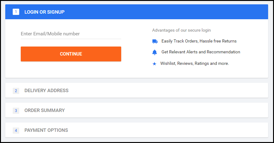 flipkart login and details form